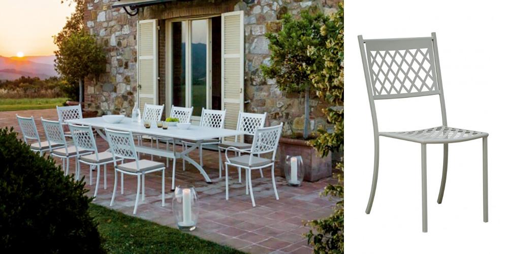 sedia summertime bianca di vermobil