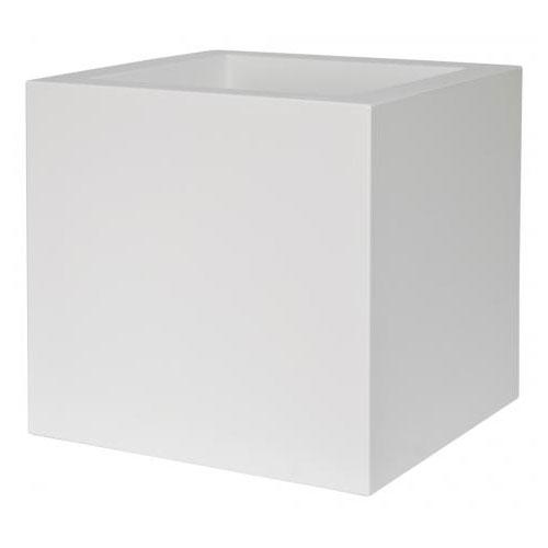 vaso kube bianco di euro3plast